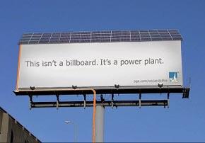 Sistema pubblicitario fotovoltaico