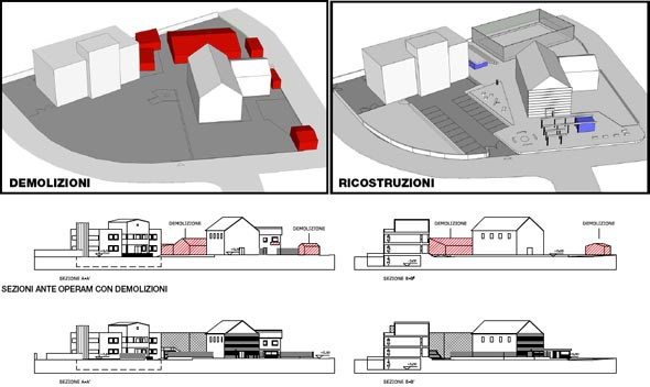 Eco City 2013 riqualificazione urbana all'infernetto - demolizioni e nuovi edifici | daniele-rocchi.com